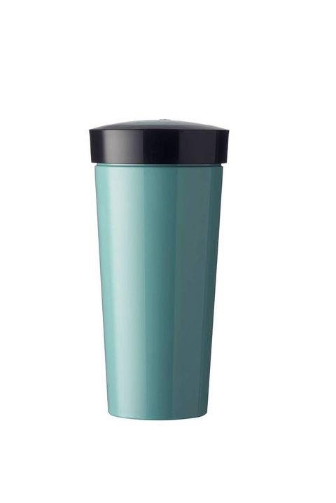 Aqua, Turquoise, Tumbler, Cylinder, Waste container, Cup, Drinkware, Plastic, Turquoise, Waste containment,