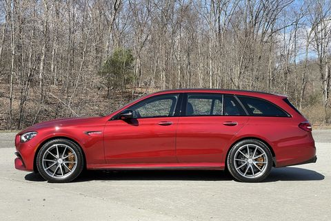 mercedes amg e63 side red 2021