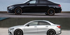 2020 Mercedes-Benz CLA and 2019 Mercedes-Benz A-class sedan
