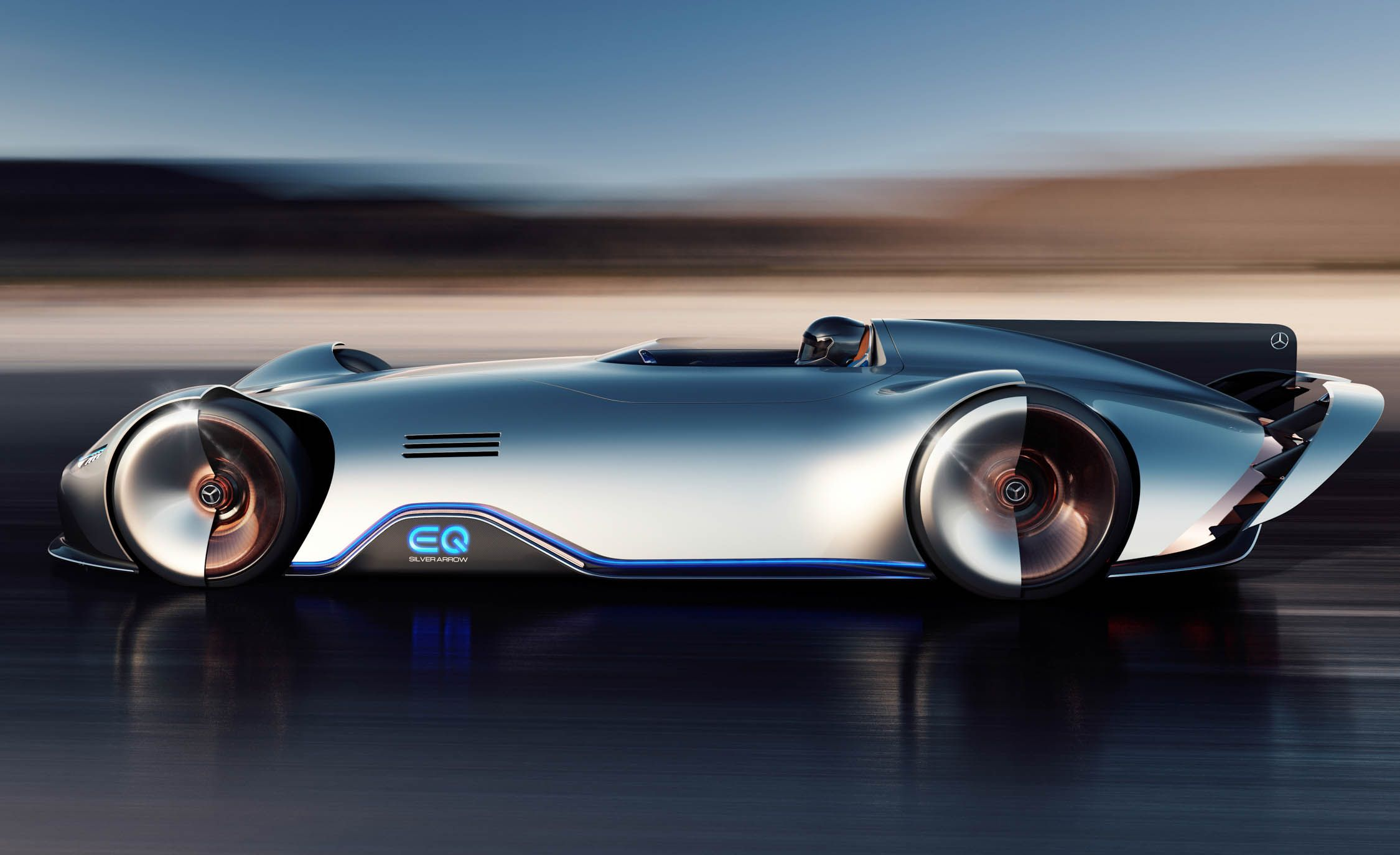 Mercedes-Benz Showcar Vision EQ Silver Arrow