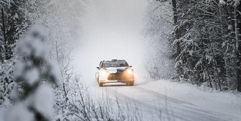 auto moto rally finland arctic lapland