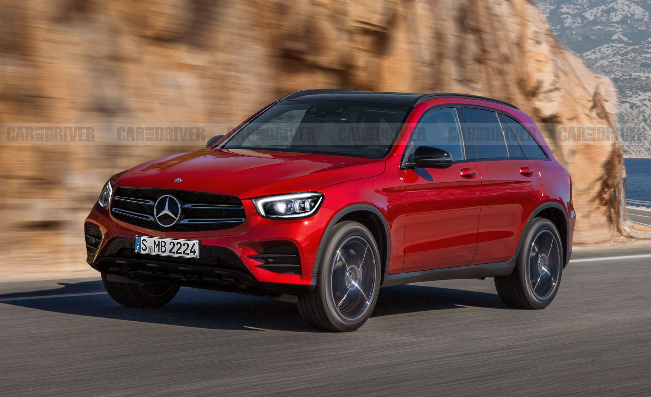Facelifted 2020 Mercedes Benz Glc Rendered