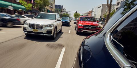 View Photos of the Mercedes GLE vs. BMW X5, Audi Q7, and Porsche Cayenne
