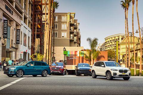 2020 Mercedes-Benz GLE450 vs. BMW X5 vs. Porsche Cayenne vs. Audi Q7
