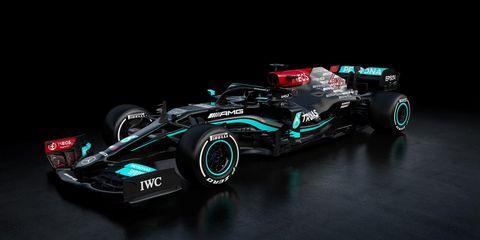 diseño del mercedes w12, fórmula 1 de la temporada 2021