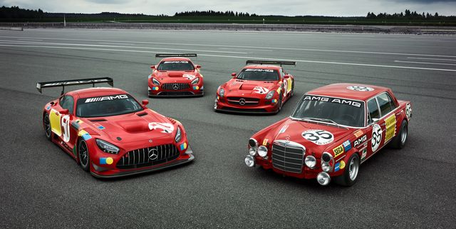 mercedes amg 50 years legend of spa gt3 cars