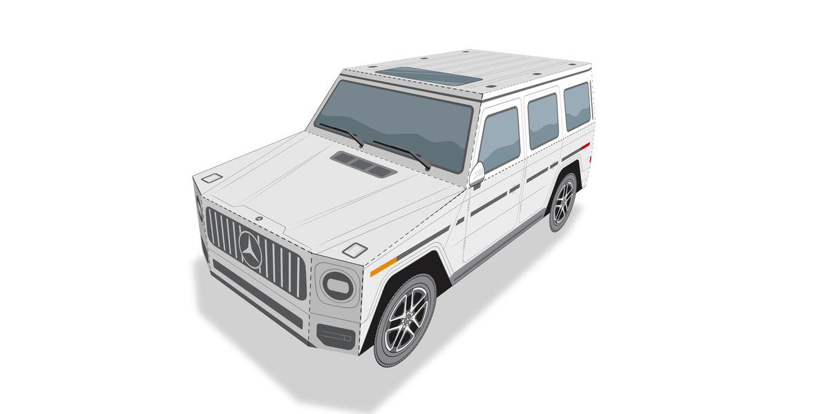 Build Your Own (Paper) Mercedes G-wagon
