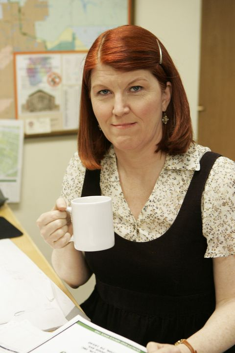 Cup, Red hair, Brown hair, Coffee cup, Long hair, Picture frame, Bracelet, Hair coloring, Makeover, Throat,