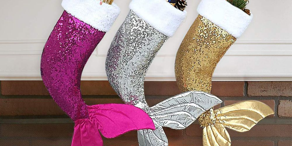 Mermaid-Tail Stockings Add an Under-the-Sea Vibe to Christmas