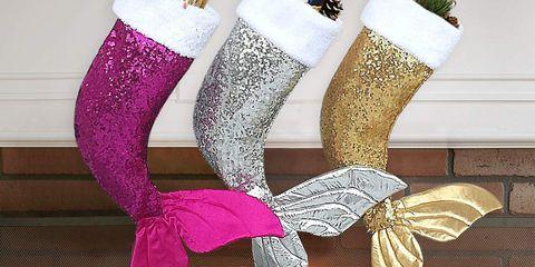 Pink, Christmas decoration, Footwear, Christmas stocking, Fashion accessory, Leg, Sock, Interior design, Costume accessory, Shoe,