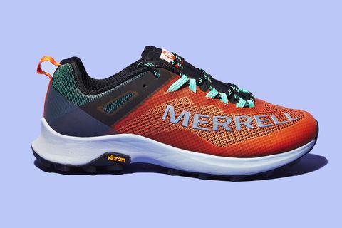 Shoe, Footwear, Outdoor shoe, Running shoe, Walking shoe, Orange, Product, Sneakers, Athletic shoe, Brown,
