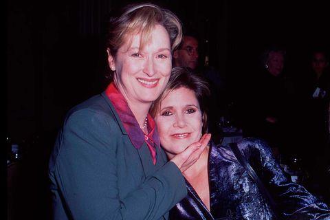 Meryl Streep y Carrie Fisher