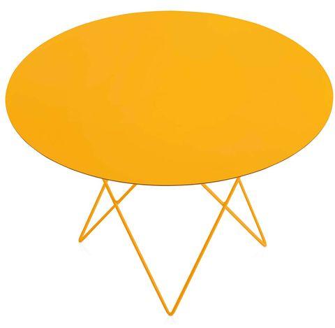 Mesa de centro color amarillo mostaza