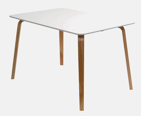Mesa con patas de madera