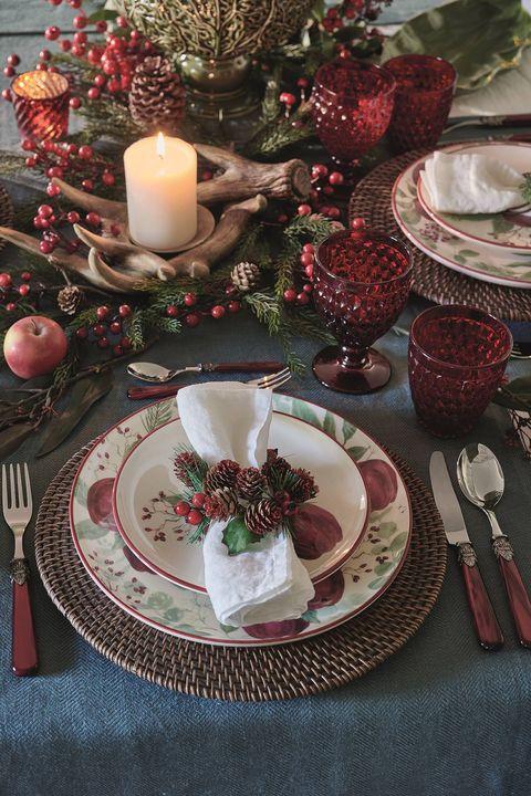 mesa de navidad de estilo tradicional