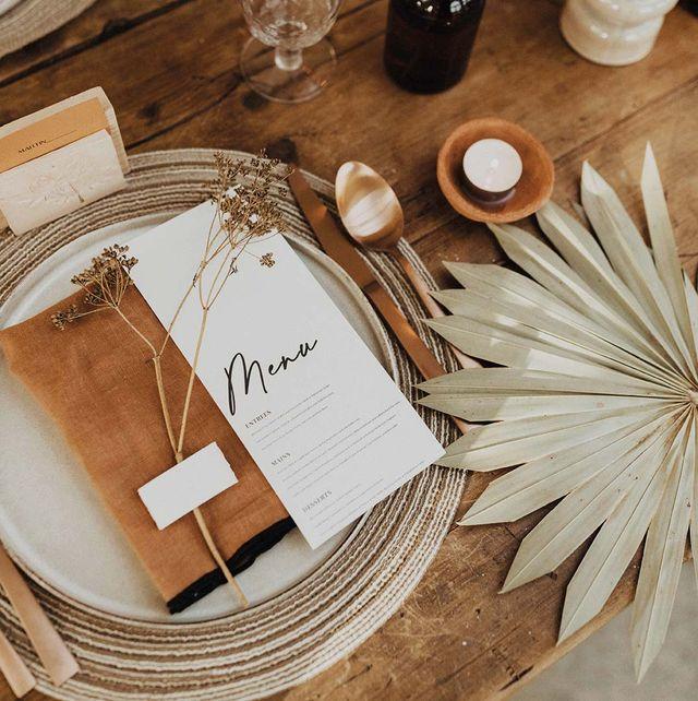mesa de boda al natural