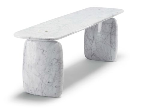 Table, Furniture, Stool, Coffee table, Material property, Marble, Bench, Rectangle, Concrete,