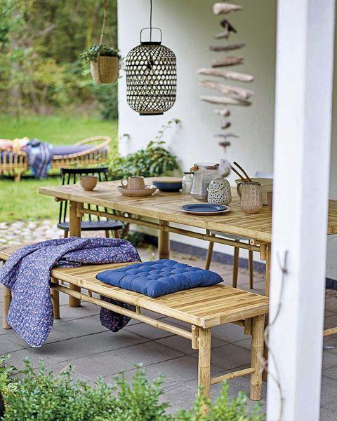 comer en el jardín comedor en el porche