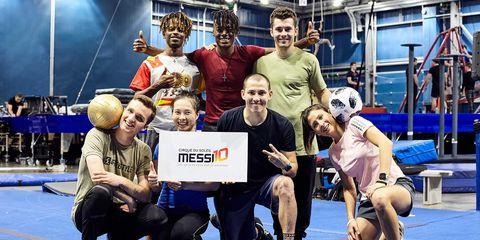 """Equipo de """"Messi10 by Cirque Du Soleil"""""""