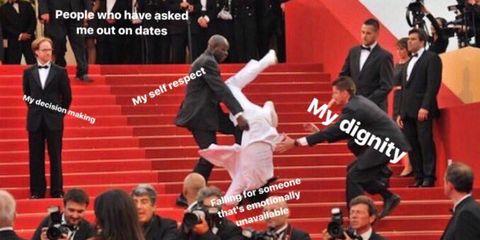 met gala stairs meme