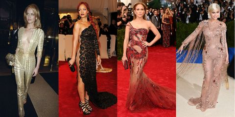 9b0bf966d34 Sexiest Met Gala Looks of All Time - Plunging, Naked Dresses Worn by ...