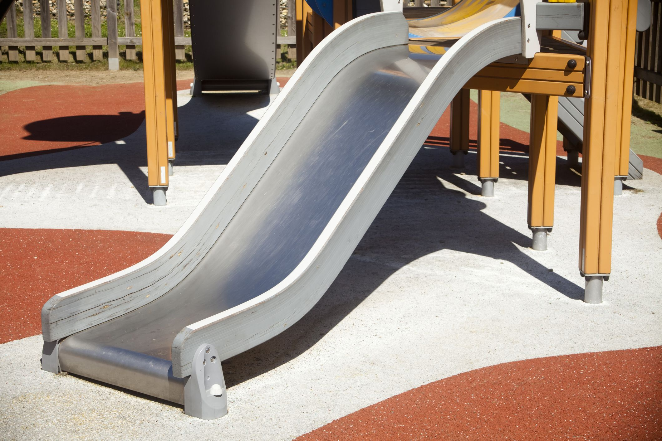 playground safety metal slide
