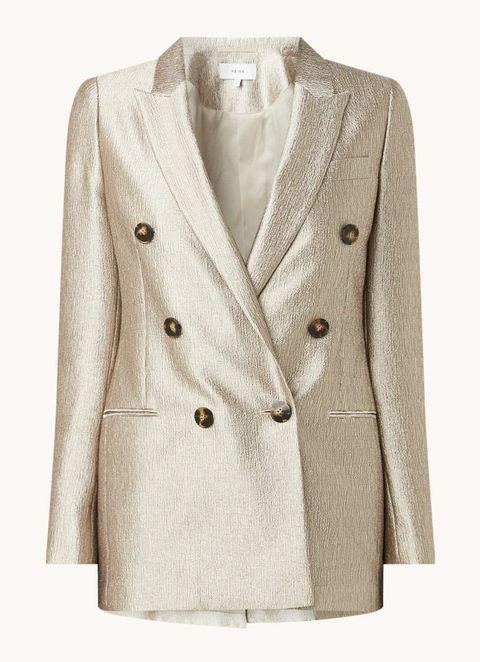 metallic blazer bijenkorf reiss mode trend 2020