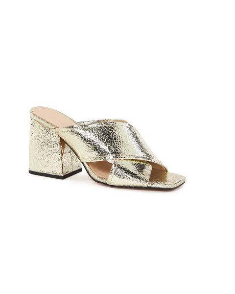 Footwear, Slingback, Shoe, Beige, Sandal, Wedge, Court shoe,