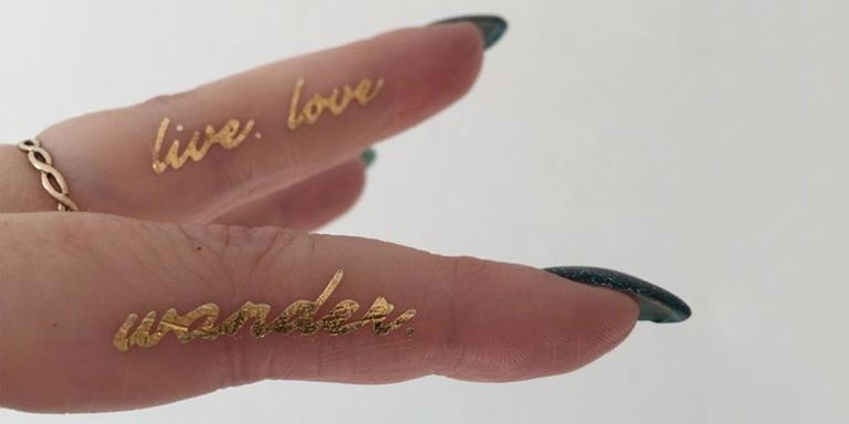 Metallic tattoos to make your summer even more Instagrammable