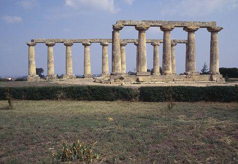 Ancient roman architecture, Ancient history, Ancient greek temple, Ruins, Roman temple, Column, Architecture, Historic site, Landmark, Temple,