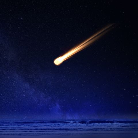 Nasa detect a meteor in sky
