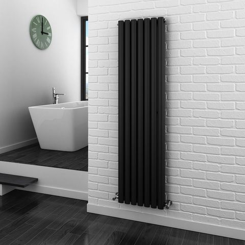 Vertical black radiator bar - Victorian Plumbing