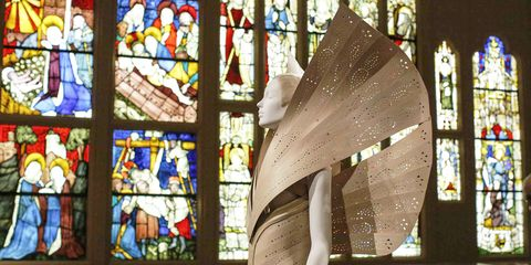 Stained glass, Glass, Window, Interior design, Architecture, Place of worship, Daylighting, Window film, Art,