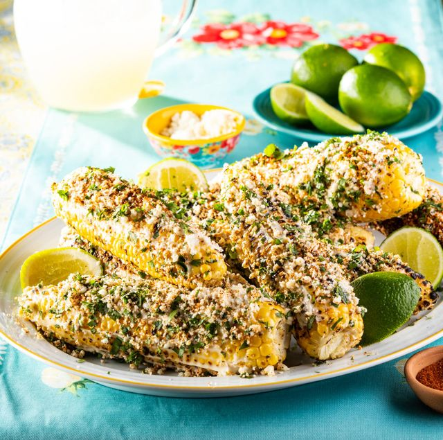mexican street corn with limes