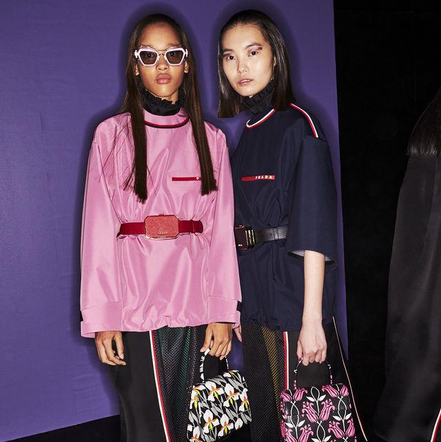 Fashion, Pink, Yellow, Footwear, Fashion design, Leggings, Eyewear, Tights, Event, Street fashion,