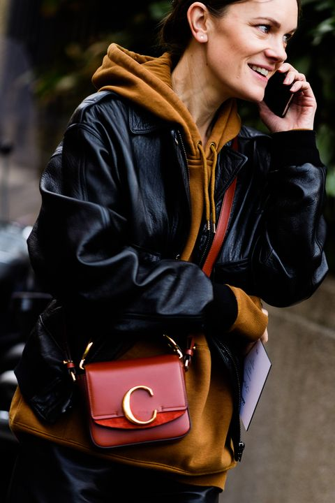 Eyewear, Street fashion, Leather, Leather jacket, Jacket, Beauty, Sunglasses, Fashion, Hairstyle, Shoulder,