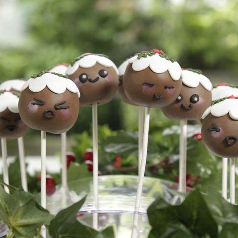 Juliet Sear mini Christmas pudding fruit cake pops