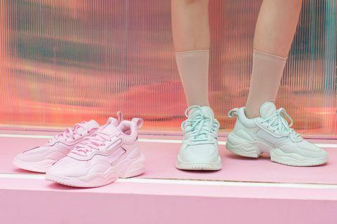 ADIDAS ORIGINALS SUPERCOURT RX 棉花糖色系球鞋厚底設計太貼心!