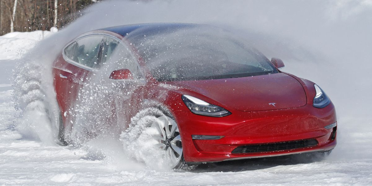 Tesla Model 3 Snow Driving   Is the Tesla Model 3 a Good ...