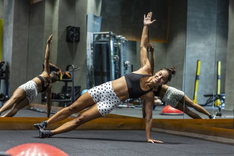 Physical fitness, Leg, Arm, Shoulder, Joint, Muscle, Fitness professional, Chest, Exercise, Balance,