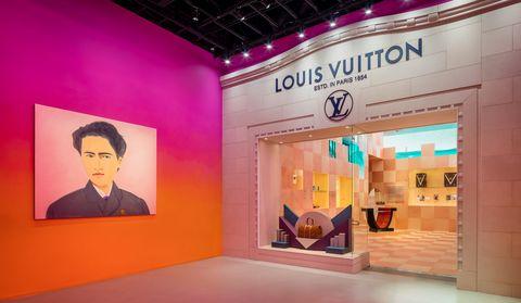 Louis Vuitton X聯名展位於美國洛杉磯的比佛利山莊