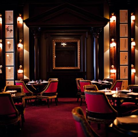 Room, Restaurant, Lighting, Building, Interior design, Architecture, Furniture, Night, House, Bar,