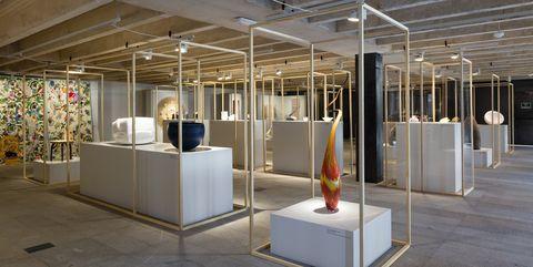 Building, Architecture, Interior design, Design, Room, Visual arts, Ceiling, Space, Flooring, Floor,