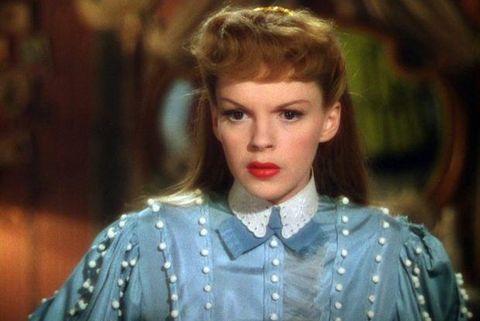 judy garland, meet me in saint louis, esther smith, red, lipstick, movie
