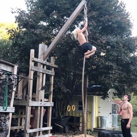 how to build an outdoor home gym  backyard workout ideas