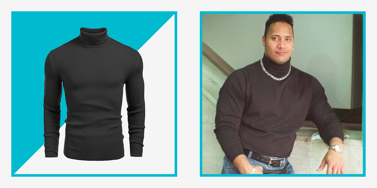Wear The Rock's Iconic Turtleneck for Halloween