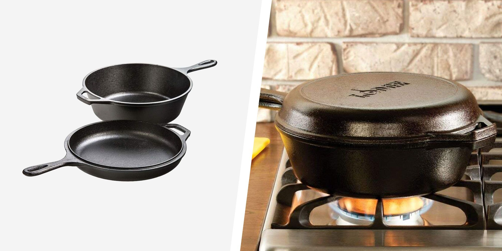 This Amazon's Choice Lodge Cast-Iron Cooking Set Is on Sale Right Now