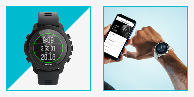 rival smartwatch and man's wrist with rival watch and phone app