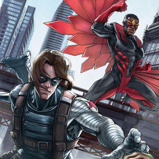 the falcon and the winter soldier cast vs comics