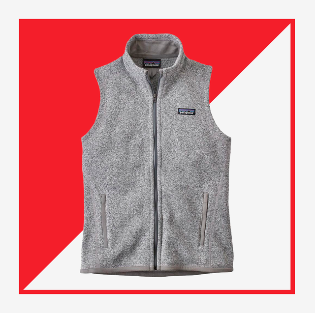 patagonia vest and clove sneakers